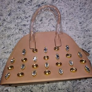 Jeweled satchel bag